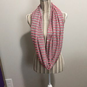 Eddie Bauer Infinity Scarf pink stripe